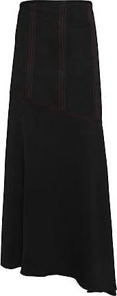 Ellery Woman Asymmetric Crepe Maxi Skirt Black Size 6 Ellery