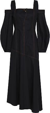 Ellery Woman Cold-shoulder Stretch-cotton Maxi Dress Black Size 6 Ellery