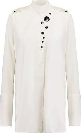 Ellery Woman Explosive Silk-blend Crepe De Chine Shirt Copper Size 12 Ellery