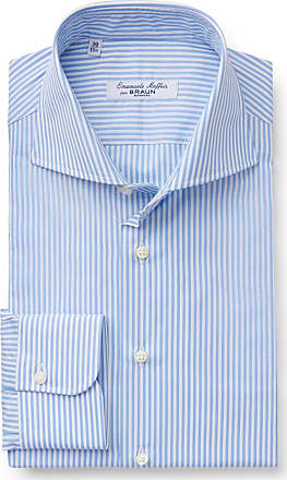 Business shirt Porto shark collar light blue striped Emanuele Maffeis