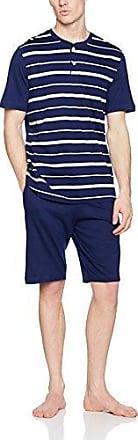 Pyjama Court Polo Team, Ropa Interior de Deporte para Hombre, Bleu (Rayure Marine Écru Bas Marine), Large Eminence
