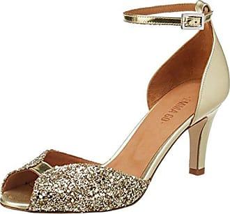 Emma Go Jolene, Zapatos de Boda para Mujer, Or (Glitter Champagne and Soft Gold and Metal Platino), 37 EU