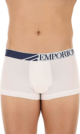 Boxer Briefs for Men, Boxers On Sale in Outlet, White, Cotton, 2017, XL (EU 6) Emporio Armani