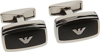 Emporio Armani Cufflinks for Men On Sale, Ruthenium, Brass, 2017, One Size