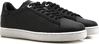 Sneakers for Men On Sale, Black, Leather, 2017, US 9.5 - UK 9 - EU 43 US 11 - UK 10 1/2 - EU 45 Emporio Armani