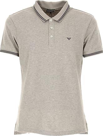 Polo Shirt for Men On Sale, Melange Grey, Cotton, 2017, M Emporio Armani