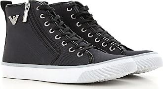 Sneakers for Women On Sale, Black, Canvas, 2017, US 6 - UK 4.5 - EU 37 Emporio Armani