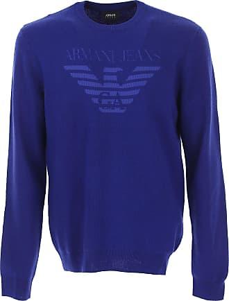 Sweater for Men Jumper On Sale, Dark Grey, Wool, 2017, XXL Emporio Armani
