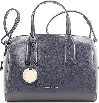 Tote Bag, Dark Steel Grey, Leather, 2017, one size Emporio Armani