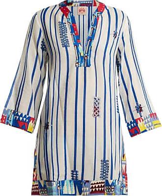 Lucy Afrika-striped cotton dress Emporio Sirenuse