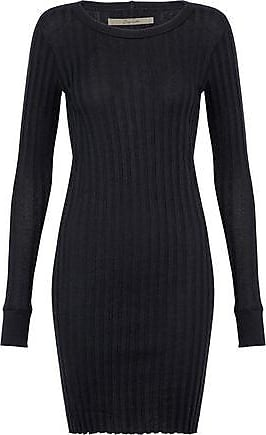 Enza Costa Woman Cashmere And Cotton-blend Midi Dress Dark Brown Size M Enza Costa