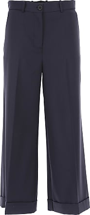 Pants for Women On Sale, Navy Blue, Cotton, 2017, 26 30 Erika Cavallini Semi Couture