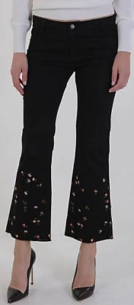 22cm Stretch Denim Flowers Embroidered Jeans Spring/summer Ermanno Scervino