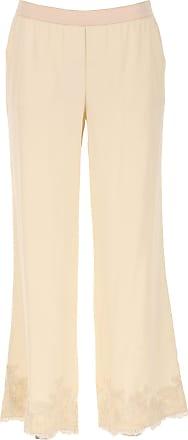 Pants for Women On Sale, Beige, Viscose, 2017, 26 28 30 Ermanno Scervino