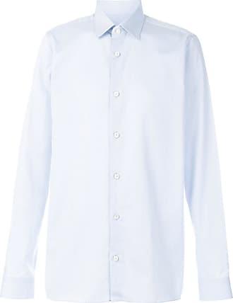 Shirt for Men On Sale, Night Blue, linen, 2017, 15.5 Ermenegildo Zegna