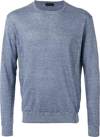 Sweater for Men Jumper On Sale in Outlet, Blue, linen, 2017, XL Comme Des Garçons