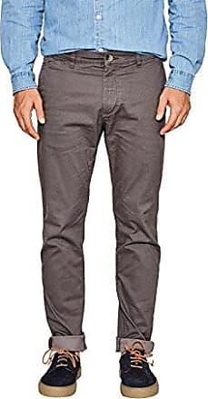 107EE1B038, Pantalon Droit Femme, Gris (Dark Grey 020), W36/L32 (Taille fabricant: W34/L32)Esprit