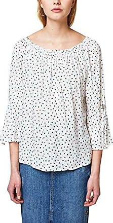 Esprit - 087EO1F018 - Collection - Blouse - Femme - Multicolore (Off White 110) - FR: 44 (Taille Fabricant: 42)Esprit
