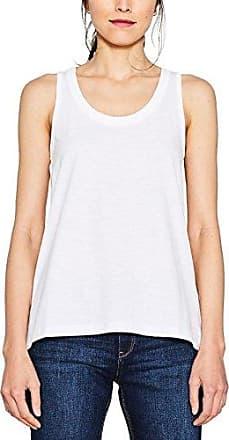 068eo1k006, Débardeur Femme, Blanc (White 100), SmallEsprit