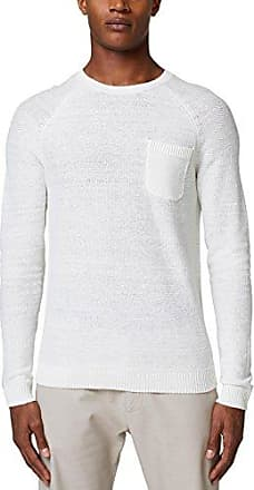 087ee2j006, Sudadera para Hombre, Blanco (Off White 110), Small Esprit