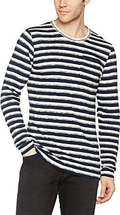 047ee2i007-Leinen, Suéter para Hombre, Azul (Navy), Medium Esprit