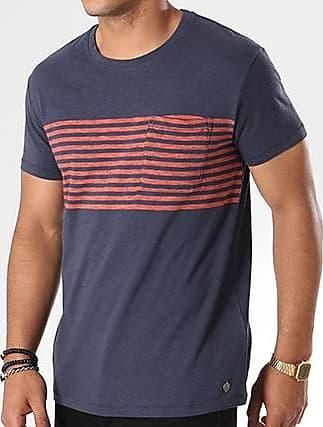 Tee Shirt Poche 078EE2K012 Bleu Marine RougeEsprit
