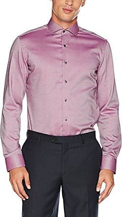 X37P, Chemise Business Homme, Mehrfarbig (Rot/Blau 55), 40 (Taille Fabricant: 15¾)Eterna