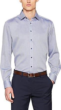 Mens Comfort Fit Langarm Grün Uni Mit Modern Kent-Kragen Formal Shirt Eterna