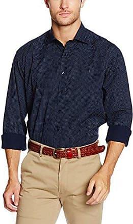 X19P, Camisa de Oficina para Hombre, Azul (Blau 19), 42 Eterna