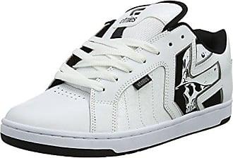 EtniesFader LS - Zapatillas de Skateboard Mujer, Blanco - White (White/Black/Grey), 10 US