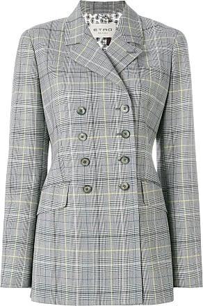 Etro Woman Paneled Checked Wool-blend Felt Jacket Black Size 40 Etro