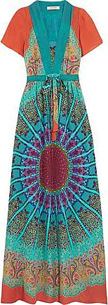 Etro Woman Printed Silk-crepe Maxi Dress Pink Size 40 Etro