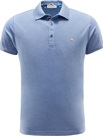 Long sleeve polo shirt grey-blue Etro
