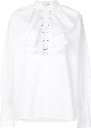 embellished lace-up blouse - White Etro