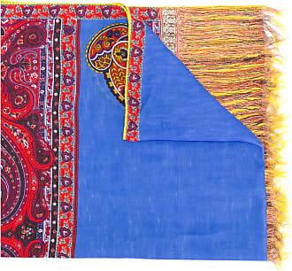 mixed print striped scarf - Multicolour Etro