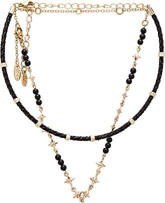 Ettika Rope Beaded Layered Choker in Metallic Gold