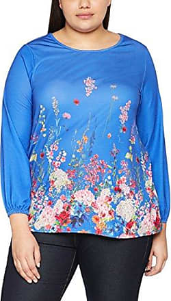 EVANS Floral Border, Blusa para Mujer, Azul (Cobalt 65), 50(Tamaño Fabricante: 22/24)