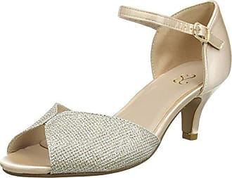 Brooke, Zapatos de Tacón con Punta Cerrada para Mujer, Dorado (Metal Comb), 39 EU Kurt Geiger