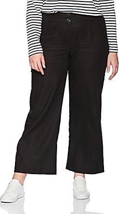 EVANS Stripe Pleated, Pantalones para Mujer, Negro (Black and White 02), W42/L28