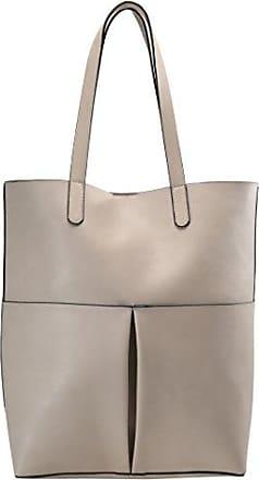 L groß 3in1 geflochtene Wendetasche Handtasche Schultertasche bag Umhängetasche Tragetasche groß (Bronze/Taupe) Fashion Forms