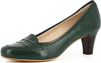 Evita Shoes BIANCA Damen Pumps Glattleder Dunkelgrün 42