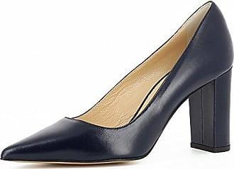 EDEFS Damen Kitten-Heel Slingback Pumps Spitze 6.5cm Mittlerer Absatz Pointed Toe Schuhe  35 EURed Suede