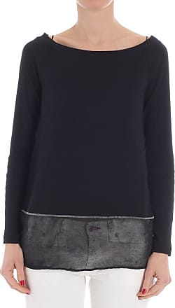 Top for Women On Sale in Outlet, Black, Cotton, 2017, 10 Fabiana Filippi