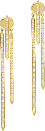 Fallon Convertible Tinsel Earrings Gold/clear