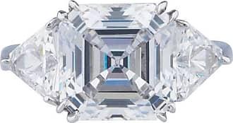 Fantasia 14kt White 2.5ct Gold Asscher Cut Ring - UK I 1/2 - US 4 1/2 - EU 48 1/2