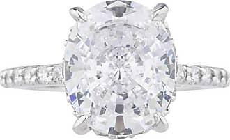 Fantasia White Gold Emerald Cut Ring with Shield Sides - UK I 1/2 - US 4 1/2 - EU 48 1/2