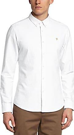 Brewer, Camisa de Oficina para Hombre, Blanco (White 104), X-Small Farah