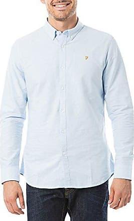 Brewer, Camisa de Oficina para Hombre, Morado (Bordeaux 507), Large Farah