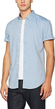Clifford, Camisa para Hombre, Azul (Sea Front 472), XX-Large Farah