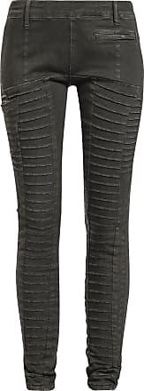 Fashion Victim Leather Biker Pantalones Mujer Negro